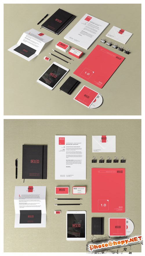 Pixeden - Stationery Branding Mock Up Vol 1