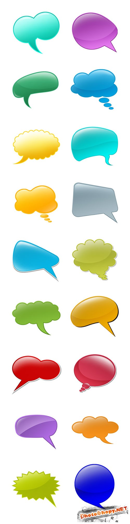 20+ Talk Bubbles PSD Templates