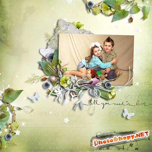 Винтажный скрап-комплект - Сладкая гармония