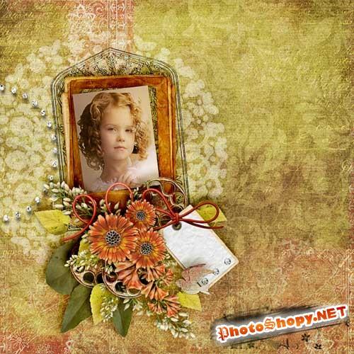 Цветочный скрап-комплект - Возрождение