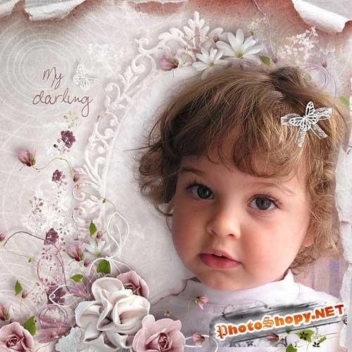 Романтический цветочный скрап-комплект - Мой милый