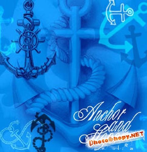 Кисти для Photoshop - Морские якоря