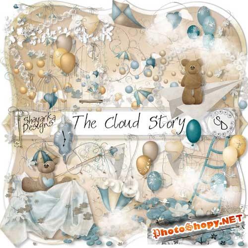 Нежный детский скрап-комплект - Облачная история