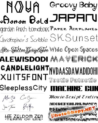 ������� ������� ( �����9) / Collection of fonts ( Part 9 )