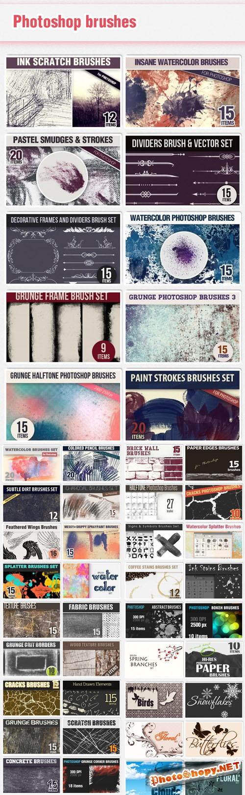 49 Premium Brushes Sets from DesignTNT