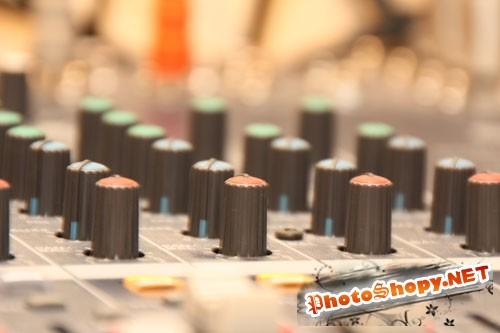 PhotoDune - Audio Mixing Desk Knobs & Controls