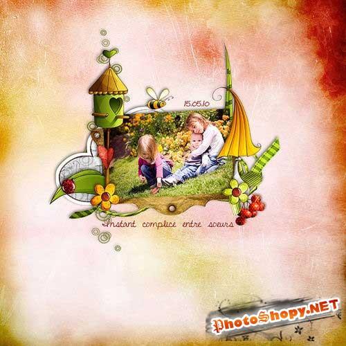 Нарисованный оригинальный скрап-комплект - Секреты сада