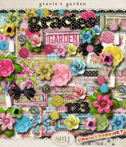 Цветочный скрап-комплект - Грациозный сад