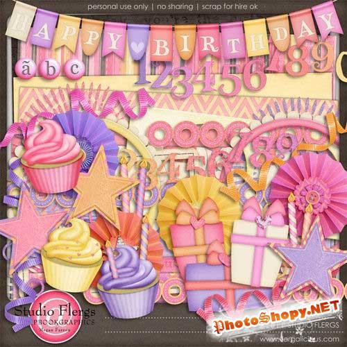 Детский праздничный скрап-комплект - Именинница