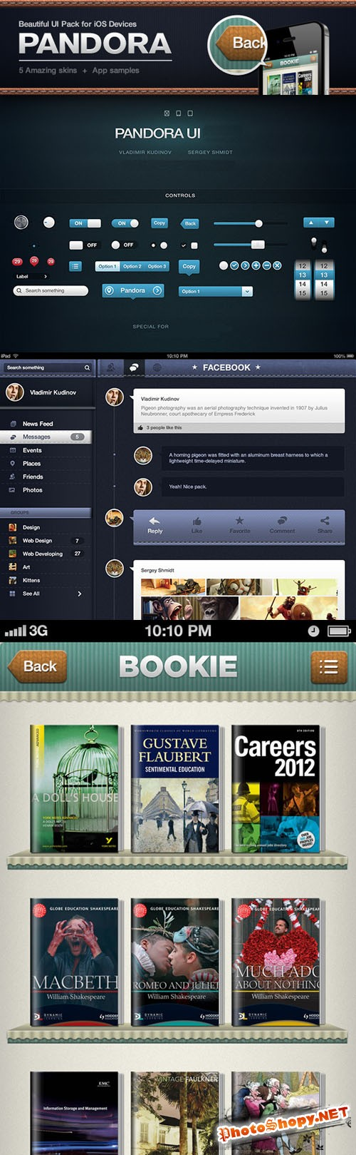 Pandora User Interface Pack for iOS