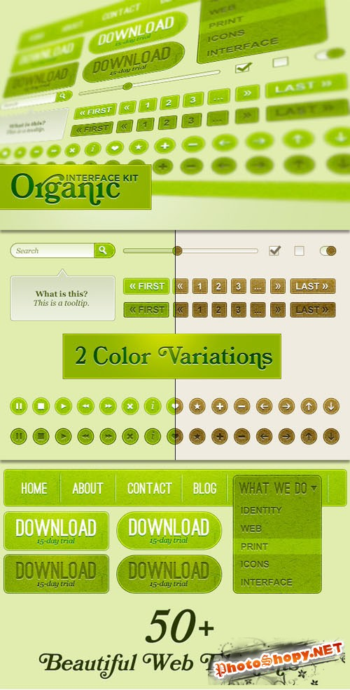 WeGraphics - Organic Web Interface Kit