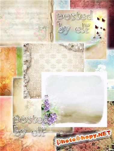 Романтичные, цветочные и винтажные фоны для вашего творчества