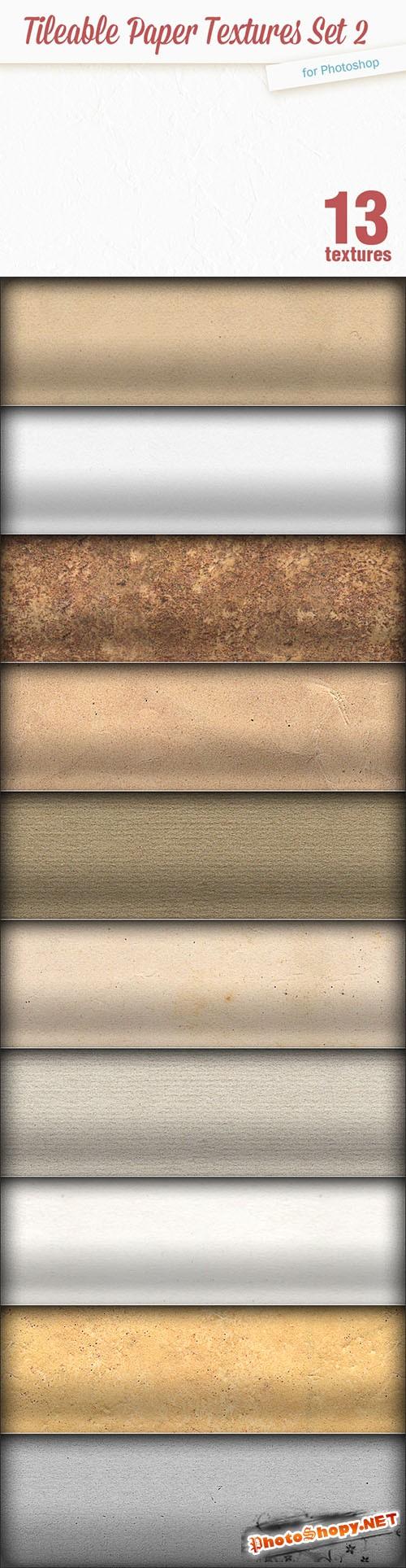13 Tileable Paper Textures