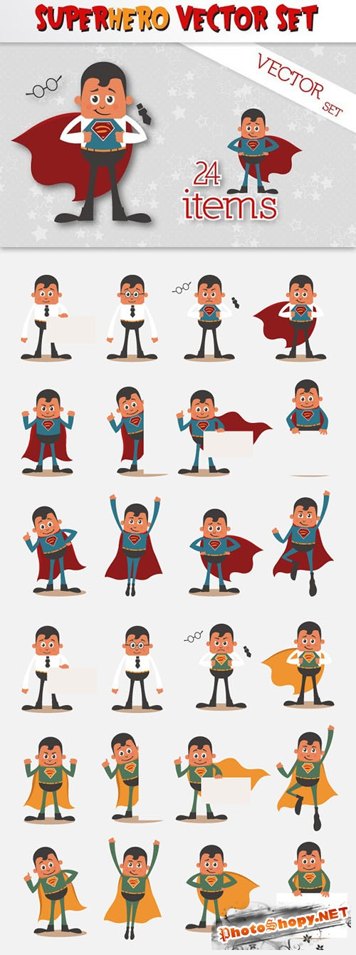 Superhero Vector Set