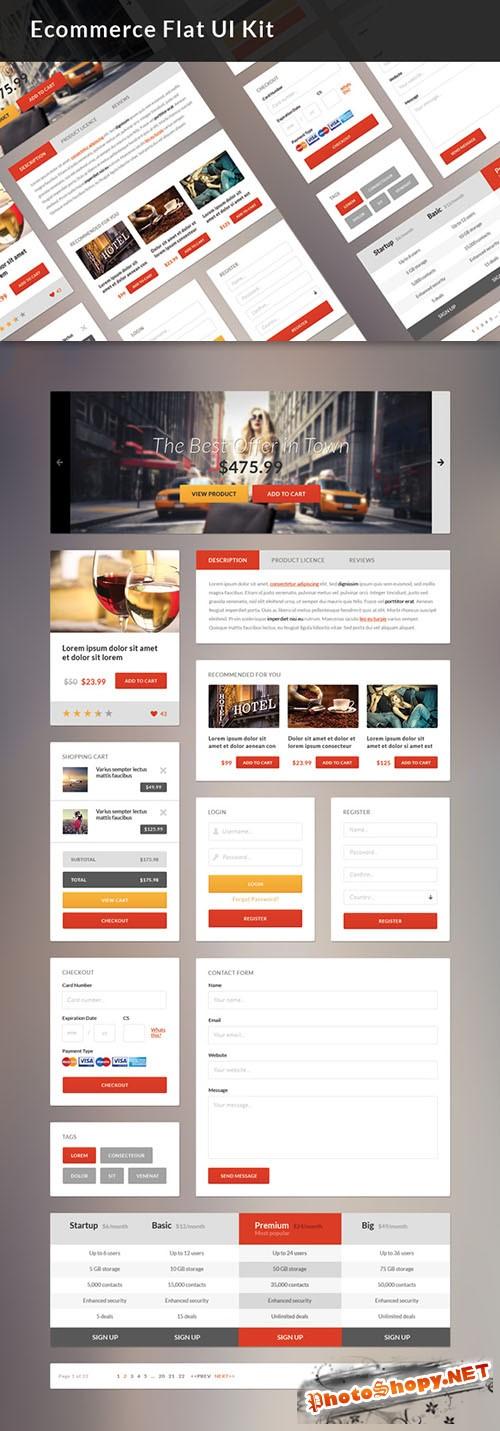 Designtnt - Ecommerce Flat UI Kit