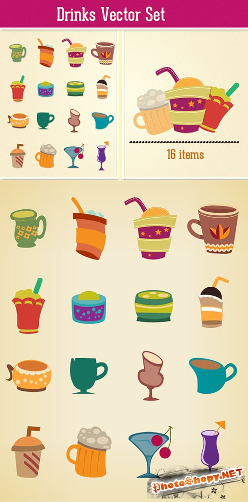 Drinks Vector Set 2