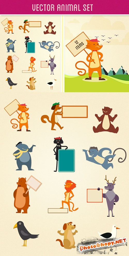 Vector Animal Set 2