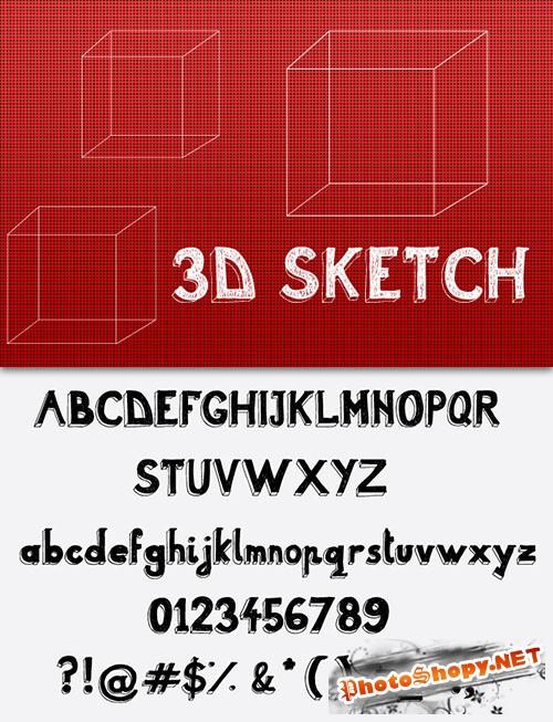3D Sketch Font