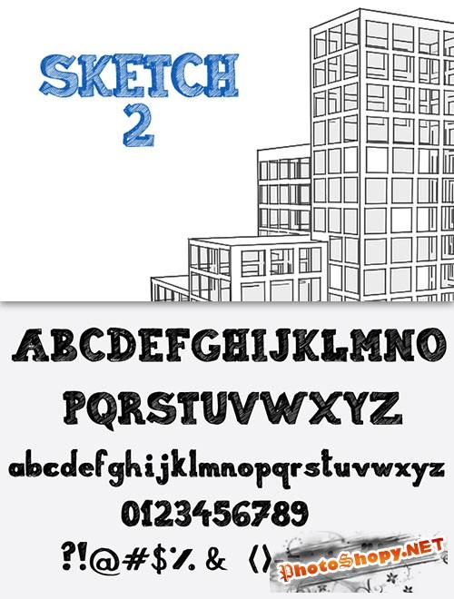 Sketch Font Pack 2