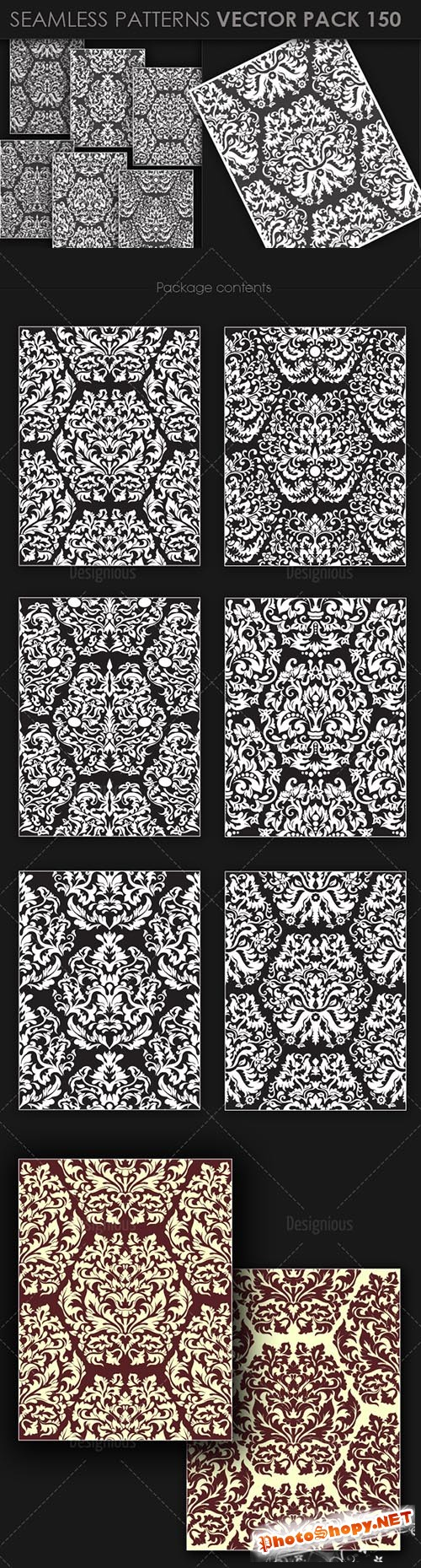 Seamless Patterns Vector Pack 150