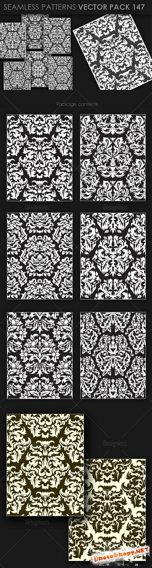 Seamless Patterns Vector Pack 147