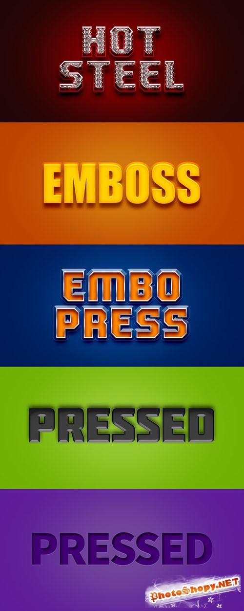 5 Photoshop Text Styles