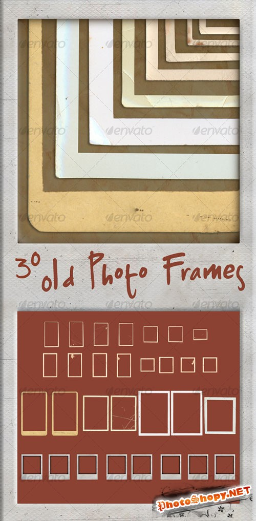 GraphicRiver - 30 Old Photo Frames 100051