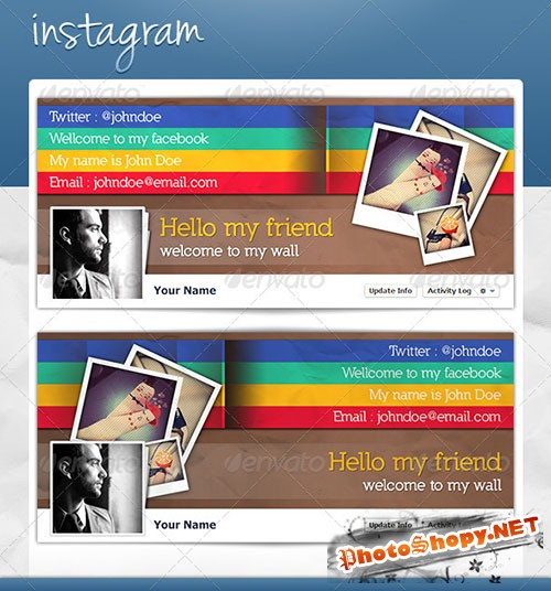 GraphicRiver - FB Cover - Instagram 3832194