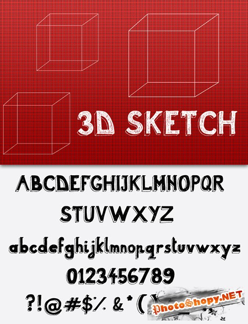 3D Sketch Fonts (REUPLOAD)