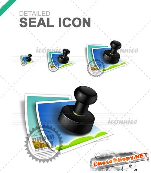 Refined Seal Icons PSD Template