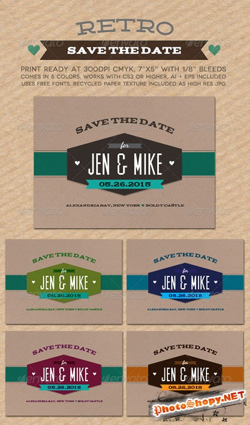 GraphicRiver - Retro Save The Date 759087