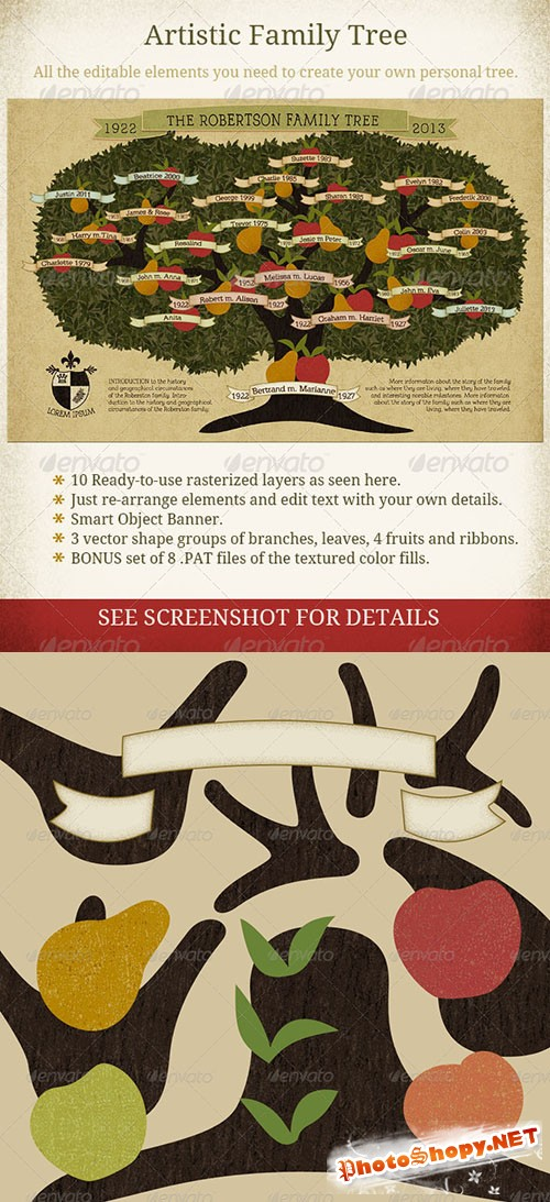 GraphicRiver - Family Tree Vintage Style 4767095