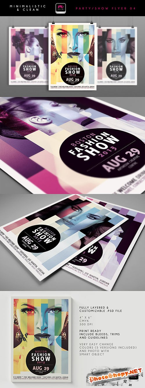Boston Fashion Show Flyer/Poster PSD Template #2