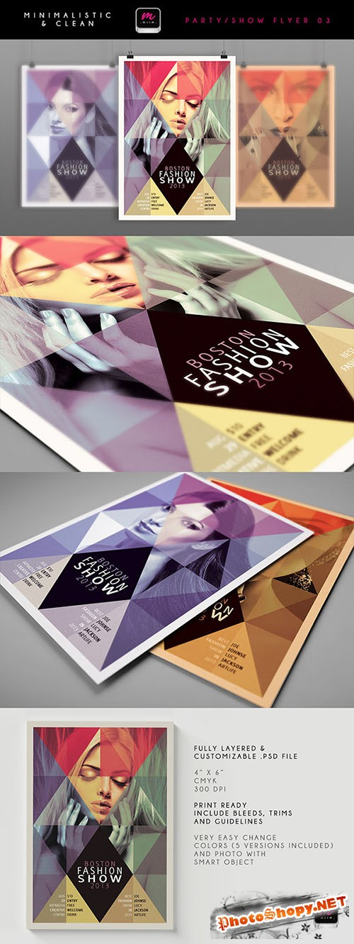 Boston Fashion Show Flyer/Poster PSD Template #1