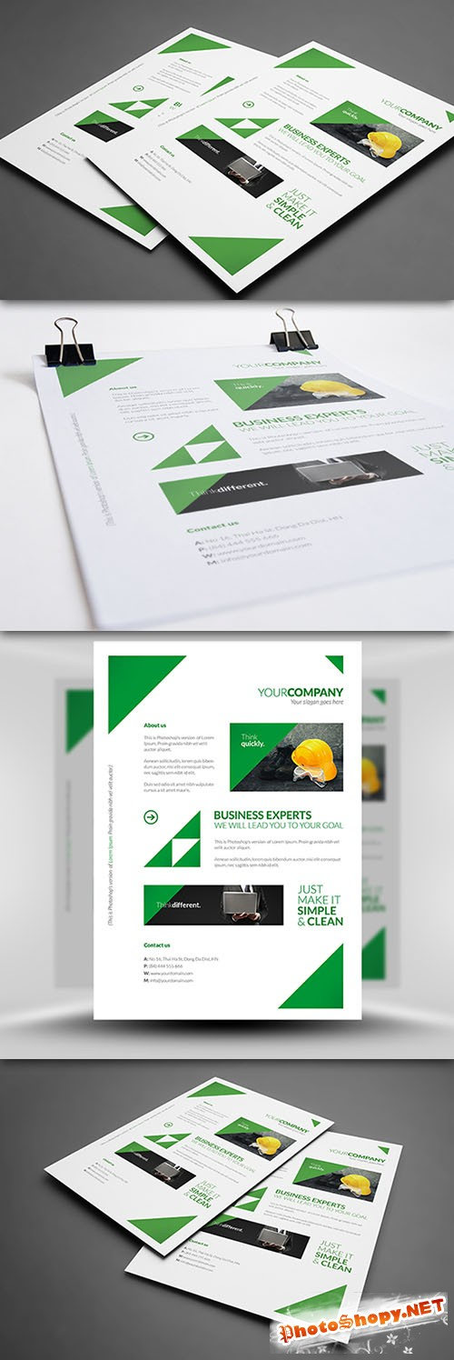 Clean Corporate A4 Flyer/Poster PSD Template