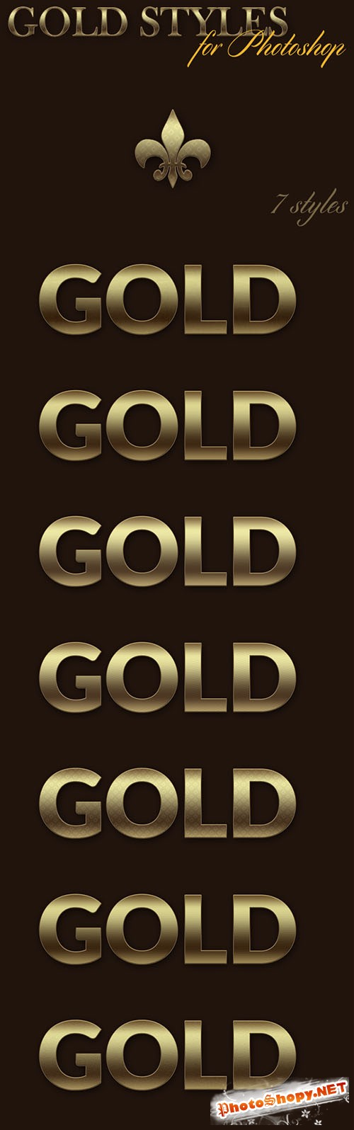 Designtnt - Gold Photoshop Styles