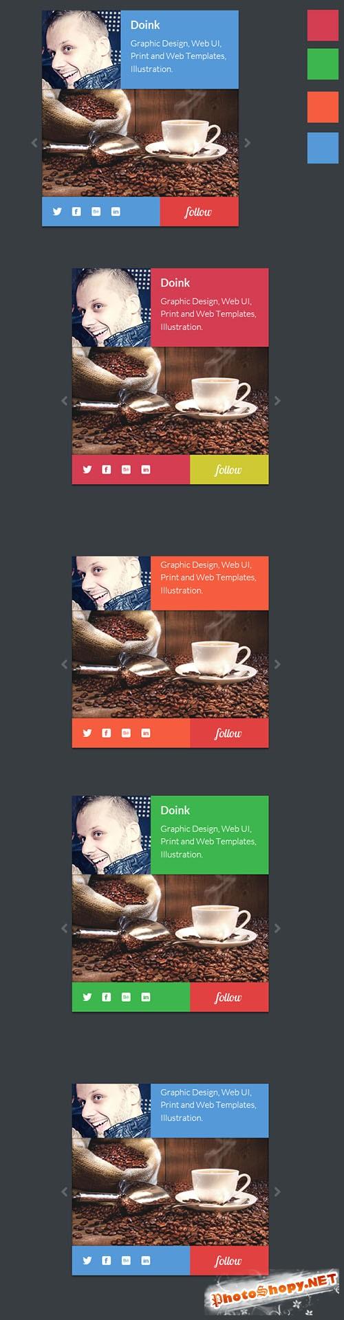 Designtnt - Flat Portfolio Widgets