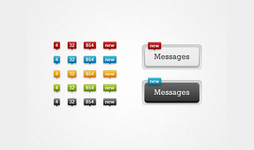 Minimalist Notification Tool Tips PSD Template