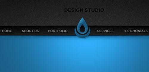 Sleek Blue Portfolio Website Header PSD Template