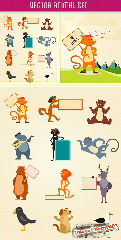 Designtnt - Animals Vector Set 2