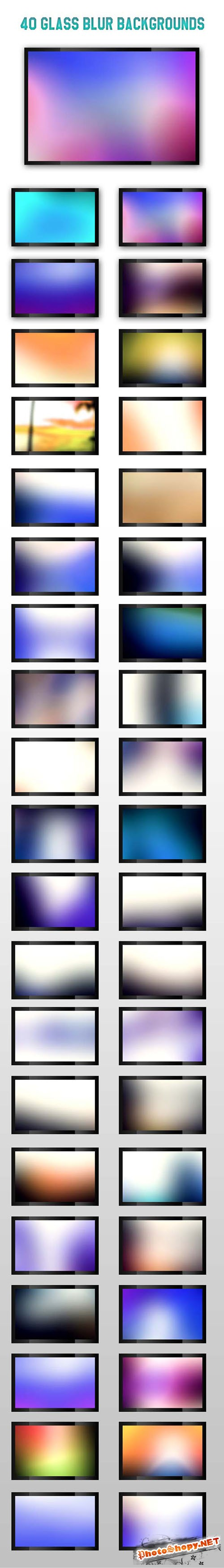 40 Glass Blur Backgrounds