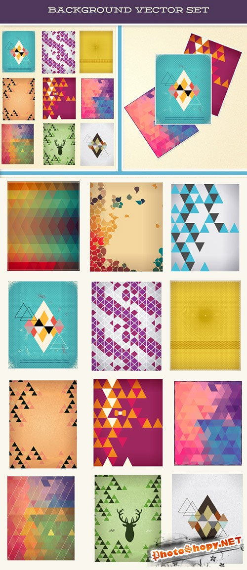 Designtnt - Backgrounds Vector Set 2