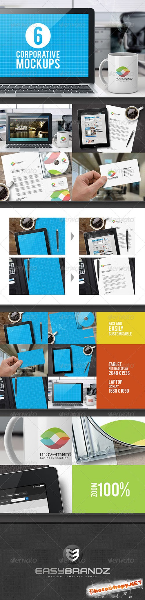 GraphicRiver - Corporative Mockups Vol.01 - 5810997